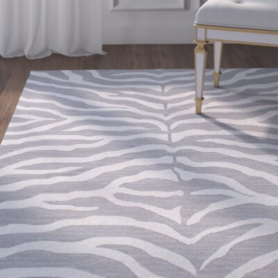 Worcester Hand-Tufted Gray Area Rug Rug Size: 5 x 8
