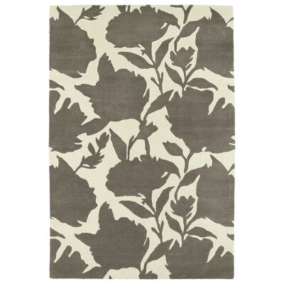 Marquain Hand-Tufted Grey / Ivory Area Rug Rug Size: Rectangle 9 x 12