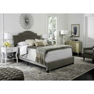 Gilbert Upholstered Panel Bed Size: Queen, Color: Gray