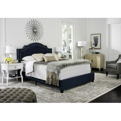 Gilbert Upholstered Panel Bed Size: Full, Color: Navy