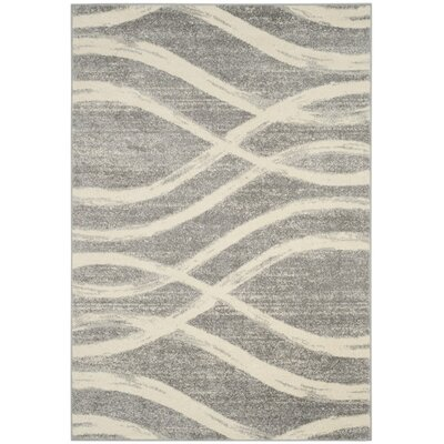 Marlee Gray/Cream Area Rug Rug Size: 6 x 9