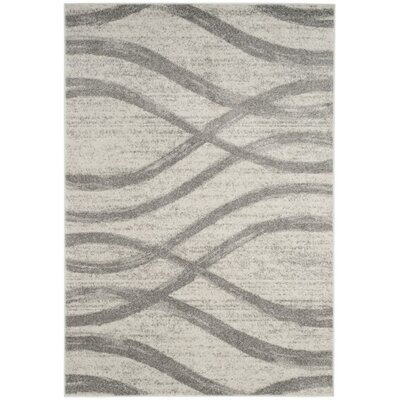 Rowley Regis Cream/Gray Area Rug Rug Size: 6 x 9
