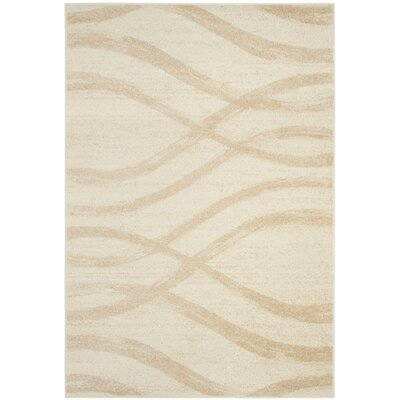 Marlee Cream/Champagne Area Rug Rug Size: Rectangle 26 x 4