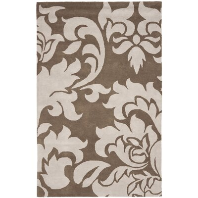 Barcelona Hand-Loomed Brown/Gray Area Rug Rug Size: 8 x 10