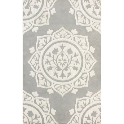 Romford Hand-Tufted Gray/Beige Area Rug Rug Size: Square 5