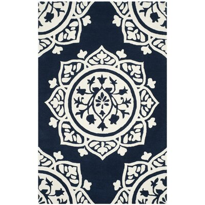 Romford Hand-Tufted Blue Area Rug Rug Size: Square 5