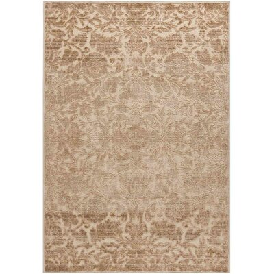 Heritage Bloom Beige/Brown Area Rug Rug Size: 67 x 92