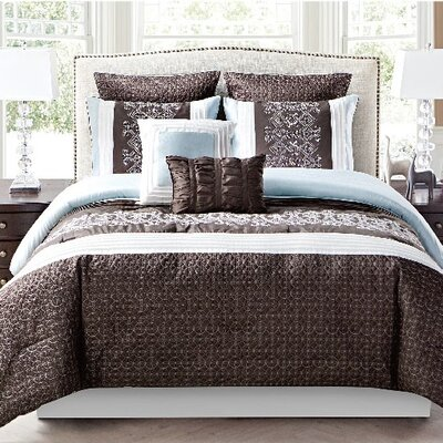 Brentford 8 Piece Comforter Set Size: Queen