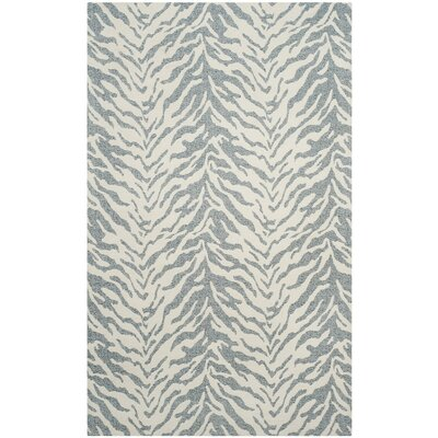 Kempston Hand-Woven Beige/Gray Area Rug Rug Size: Square 6