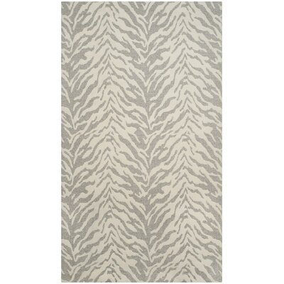 Kempston Hand-Woven Gray/Beige Area Rug Rug Size: Square 6
