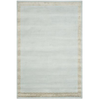 Exmouth Hand-Knotted Aqua/Gold Area Rug Rug Size: Rectangle 4 x 6