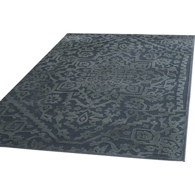 Maspeth Navy Area Rug Rug Size: 53 x 76