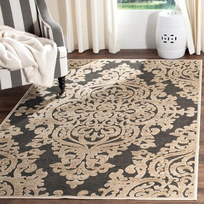 Mitchum Stone / Anthracite Area Rug Rug Size: Rectangle 33 x 47