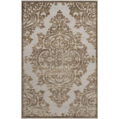 Mitchum Beige/Gray Area Rug Rug Size: Rectangle 53 x 76