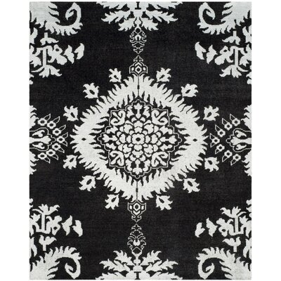 Bottesford Hand-Knotted Charcoal Area Rug Rug Size: Rectangle 6 x 9