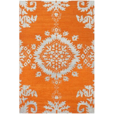 Bottesford Hand-Knotted Gold Area Rug Rug Size: Rectangle 9 x 12