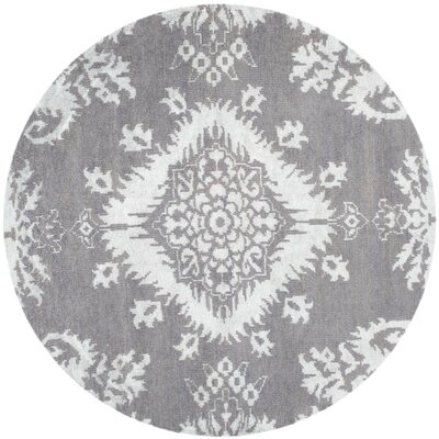 Bottesford Hand-Knotted Gray Area Rug Rug Size: Rectangle 4 x 6