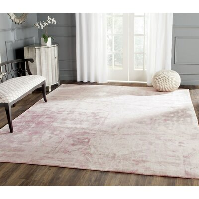 Maldon Hand-Knotted Pink Area Rug Rug Size: 6 x 9