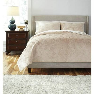 Bowlby Patterned Comforter Set Size: King