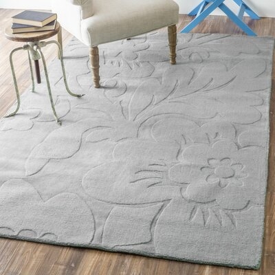 Stambruges Hand-Woven Gray Area Rug Rug Size: 76 x 96