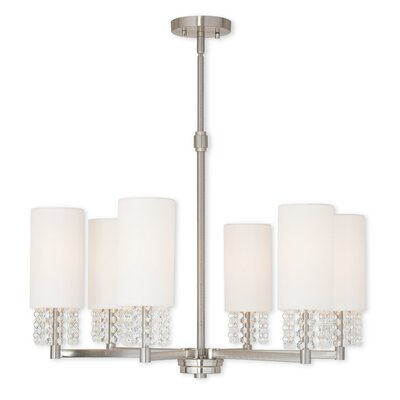 Dor 6-Light Shaded Chandelier