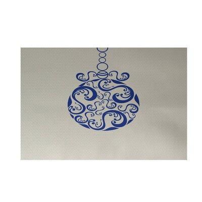 Decorative Holiday Print Ivory Cream Indoor/Outdoor Area Rug Rug Size: 4 x 6