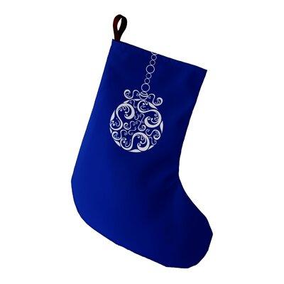 Decorative Holiday Print Stocking Color: Royal Blue