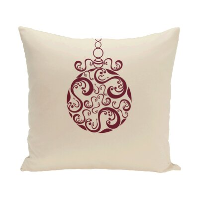 Havelock Decorative Holiday Print Throw Pillow Size: 18 H x 18 W, Color: Ivory/Royal Blue