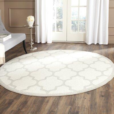 Levon Beige/Light Grey Area Rug Rug Size: Round 5