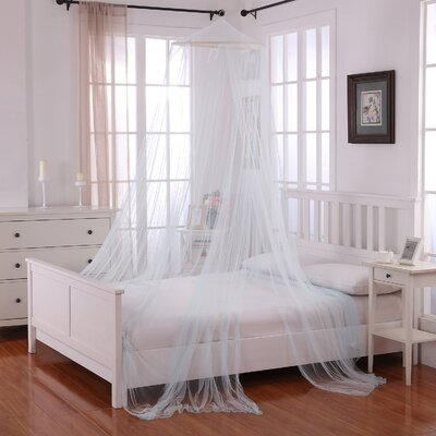 Laurencho Round Hoop Sheer Bed Canopy Net Color: Light Blue