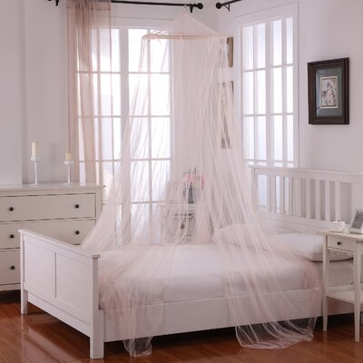 Laurencho Round Hoop Sheer Bed Canopy Net Color: Pink