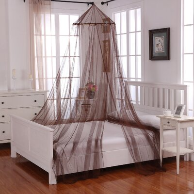 Laurencho Round Hoop Sheer Bed Canopy Net Color: Chocolate
