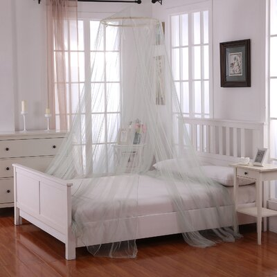 Laurencho Round Hoop Sheer Bed Canopy Net Color: Sage