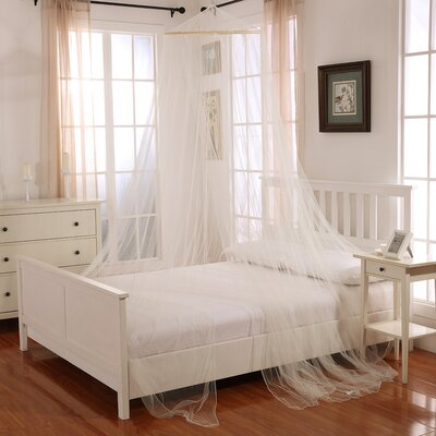 Laurencho Round Hoop Sheer Bed Canopy Net Color: Ecru