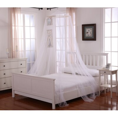 Elize Oasis Round Hoop Sheer Bed Canopy Net Color: White
