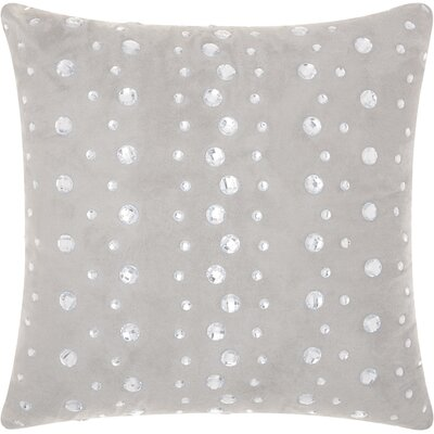 Sharonda Modern Polka Dots Throw Pillow Color: Silver/Gray