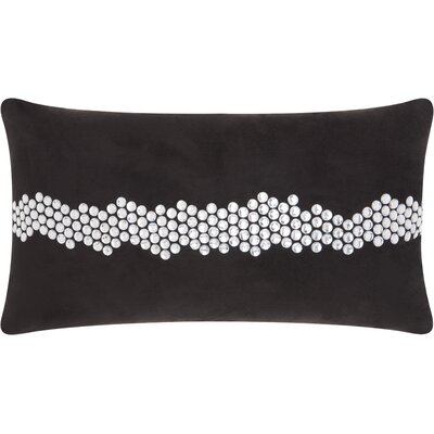Sharonda Lumbar Pillow Color: Black