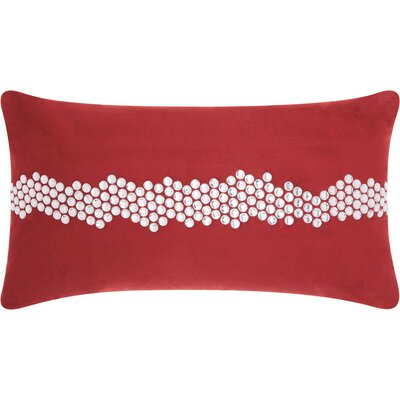 Sharonda Lumbar Pillow Color: Burgundy