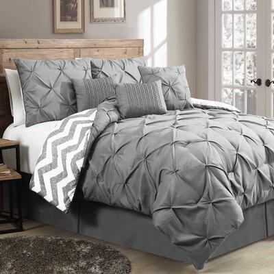 Germain Comforter Set Size: Queen, Color: Grey