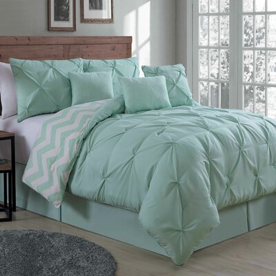 Germain Comforter Set Size: Queen, Color: Mint