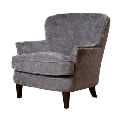 Parmelee Wingback Chair Upholstery: Dark Gray