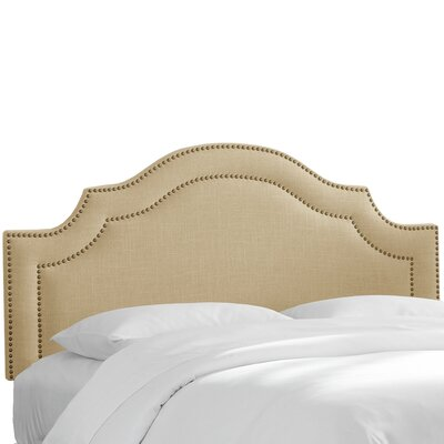 Zanuck Arch Upholstered Panel Headboard Size: Twin, Upholstery: Laguna