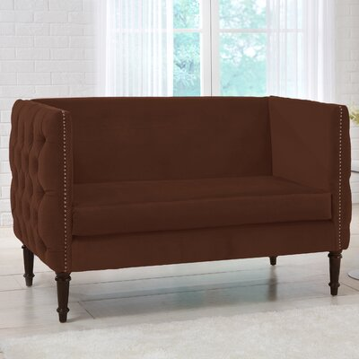 Lyric Chesterfield Settee Upholstery Color: Chocolate