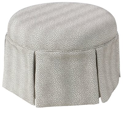 Deeanna Traditional Round Skirted Ottoman