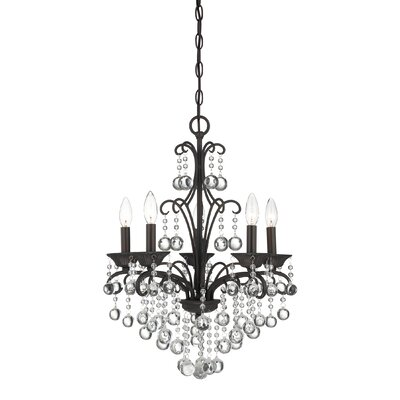 Guadeloupe 5-Light Crystal Chandelier