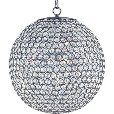 Farley Hall 5-Light Crystal Chandelier Finish: Bronze