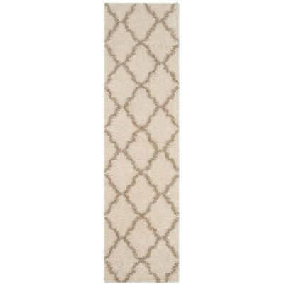Charmain Ivory/Beige Area Rug Rug Size: Round 6