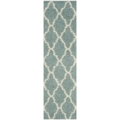 Alice Seafoam/Ivory Area Rug Rug Size: Runner 23 x 10