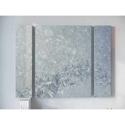 'Frost Pattern Sun Stars' by Kurt Shaffer 3 Graphic Art on Wrapped Canvas Set