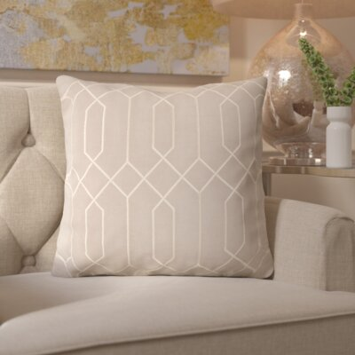Honiton Linen Throw Pillow Size: 20 H x 20 W x 4 D, Color: Gray